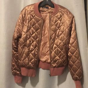 NWOT Quilted Bomber Jacket